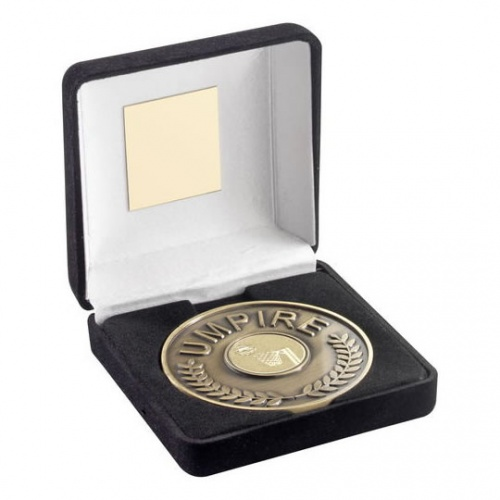 Engraved Netball Umpires Medal and Case