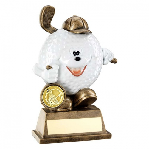 Resin Comedy Golf Ball Trophy RF102