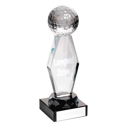 Glass Golf Longest Drive Trophy