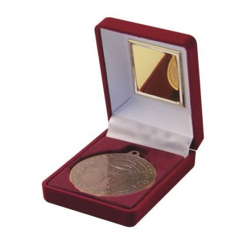 3.5in Bronze Golf Medal In Red Box