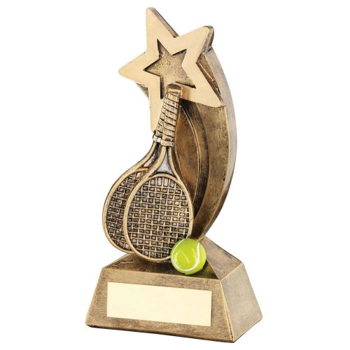 Resin Bronze Tennis Shooting Star Trophy