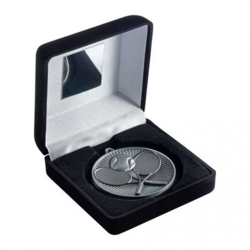 Tennis Silver Medal in Black Presentation Case