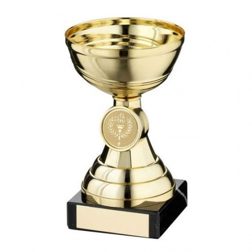 Gold Bell Stem Trophy Cup with 1in Centre
