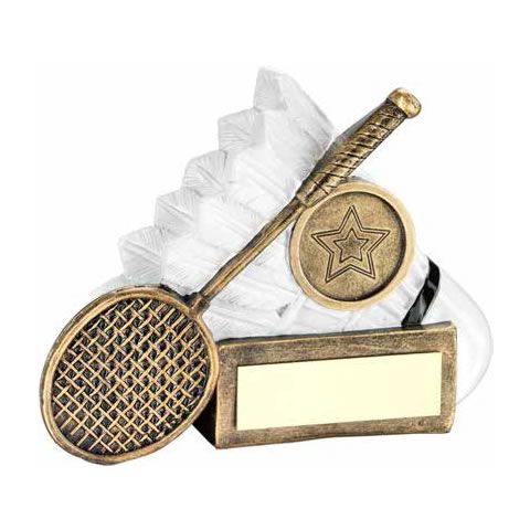 2.75in Resin Bronze & White Badminton Award