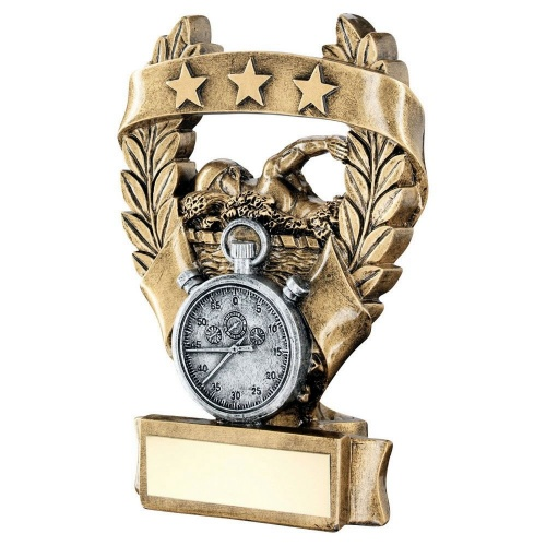 Swimming Three Star Wreath Award Trophy