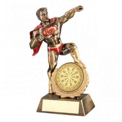 Darts Superhero Figure Trophy