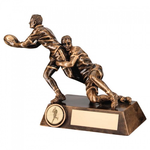 Resin Bronze Rugby Tackle Trophy