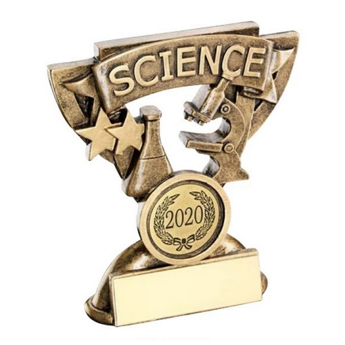 School Science Trophy with Base Plaque