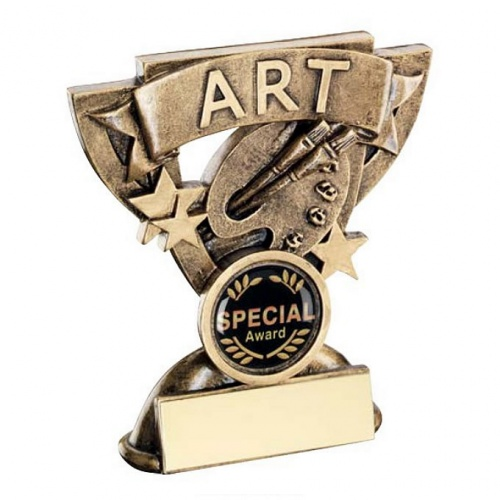 School Art Trophy with Base Plaque