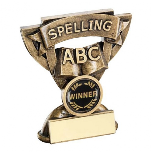 School Spelling Trophy with Base Plaque