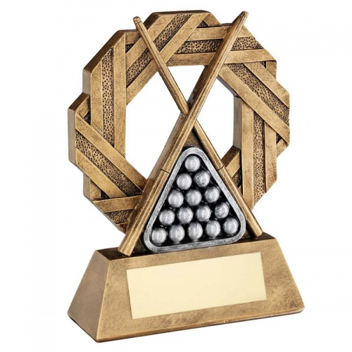 Resin Pool Snooker Octagonal Trophy RF765