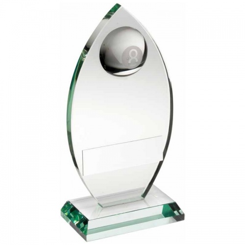Glass Pool 8 Ball Awards Plaque