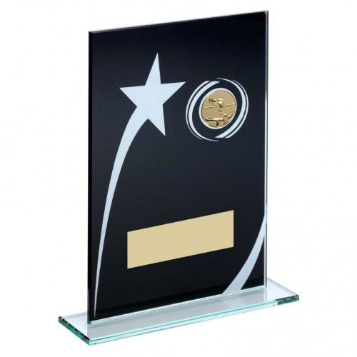 Pool Snooker Black Glass Star Plaque
