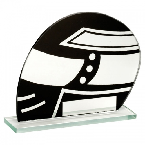 4.75in Black & Silver Glass Motorsports Plaque