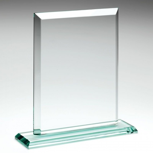 7in Jade Glass Rectangular Plaque