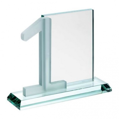 Glass Golf Number One Awards Plaque
