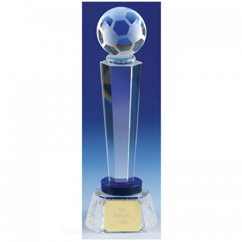 Crystal Football Column Trophy KK159