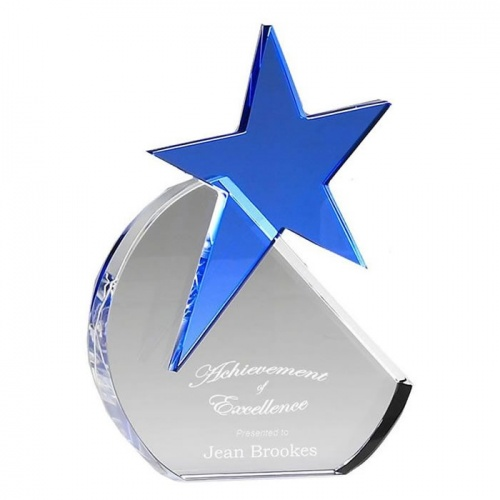 8in Aquamarine Star Award