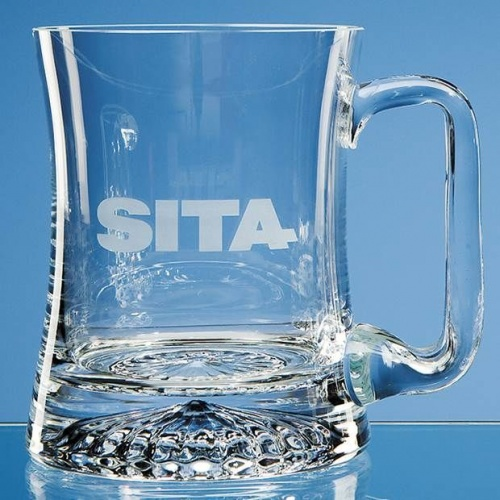 Concave Crystal Tankard 0.34ltr