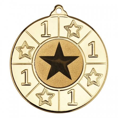 50mm Gold Number One Star Medal M93