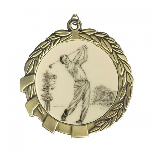 70mm Gold Golf Medal MD01G-GF