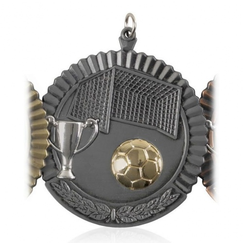 2in Silver Football Medal MD09S