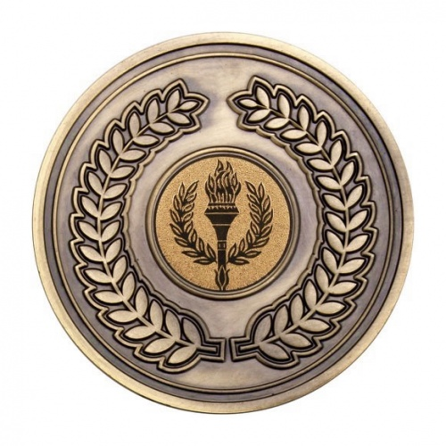 70mm Laurel Wreath Medal in Antique Gold