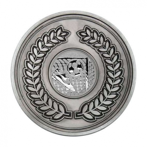 70mm Antique Silver Football Laurel Wreath Medal