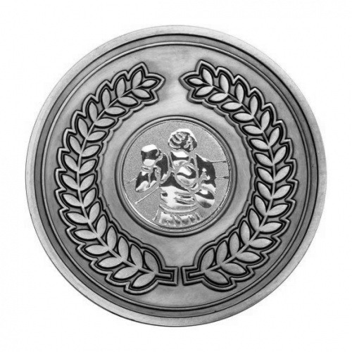 70mm Antique Silver Boxer Laurel Wreath Medal