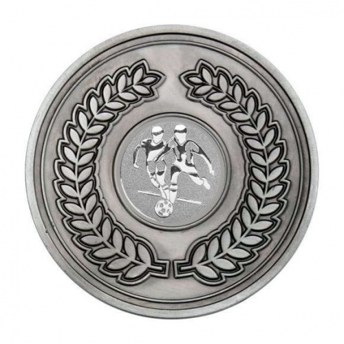 70mm Antique Silver Footballers Laurel Wreath Medal