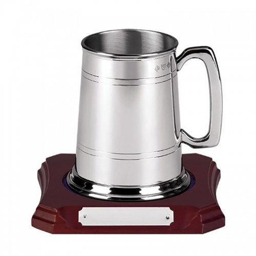 Two Line Pewter Tankard