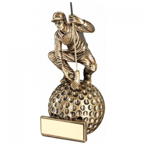 Bronze Golf Figure Trophy RF258