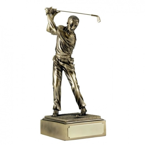 9in Resin Golf Figure - Golf Shot