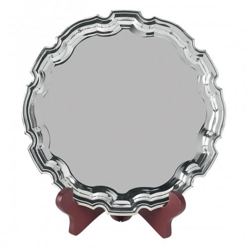 7in Heavy Gauge Nickel Plated Chippendale Tray