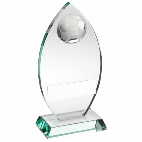 Jade Glass Football Plaque TD441