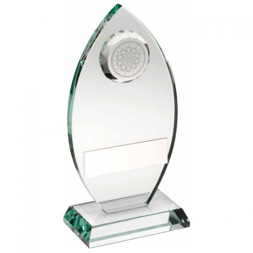 Glass Darts Awards Plaque TD443