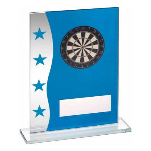 Blue & Silver Glass Darts Plaque