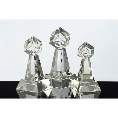6.5in Crystal Cube Column Award