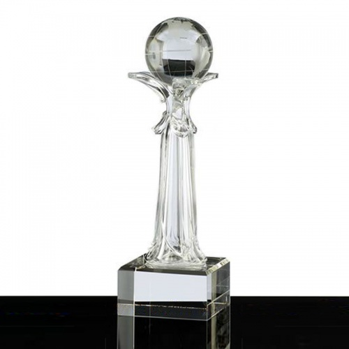 Tall Crystal Globe Award