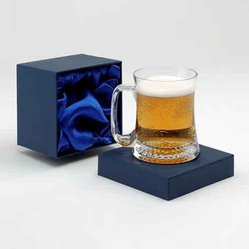 Concave Crystal Pint Tankard