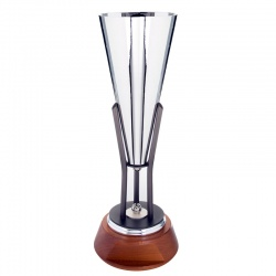 20.5in Silver & Gunmetal Vase Trophy