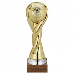 55cm Gold Plated Globe Trophy 1614
