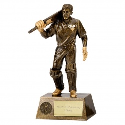 Resin Bronze Cricket Batsman Trophy