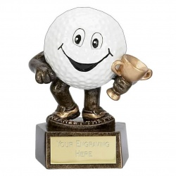 Novelty Golf Ball Longest Drive Trophy