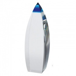 Clear & Blue Optical Crystal Award AC130