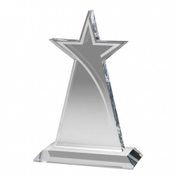 7.25in Flat Glass Star Swoosh Award