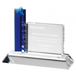 Crystal Plaque Star Award AC74