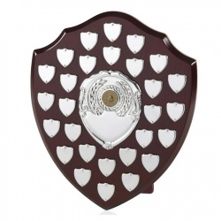 12in Large Wood Awards Shields BPS