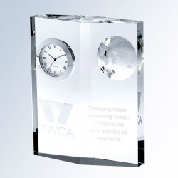 Globe Clock Diamond Plaque