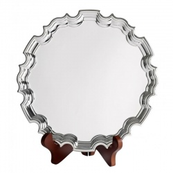 12in Silver Plated Chippendale Tray